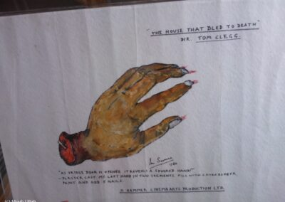Severed hand made by Ian Scoones for The House That Bled to Death