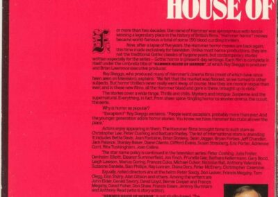 Hammer House of Horror Publicity Manual