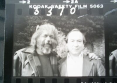 Contact sheet from Children of The Full Moon showing Roy Skeggs