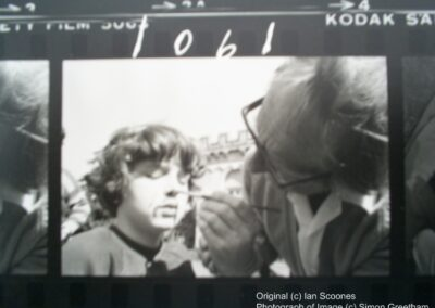 Contact sheet from Children of The Full Moon showing makeup being applied