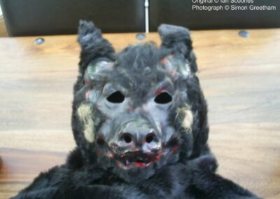 Mask made by Ian Scoones to produce shadow in Children of The Full Moon (2)