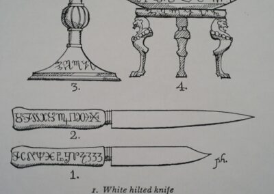 Drawing of props to be used in Guardian of The Abyss