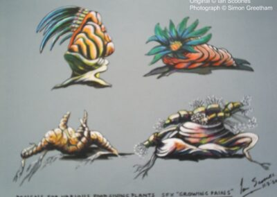 SFX drawing of plants for Growing Pains