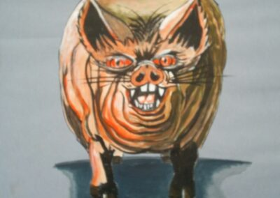 SFX drawing of pig for The Thirteenth Reunion